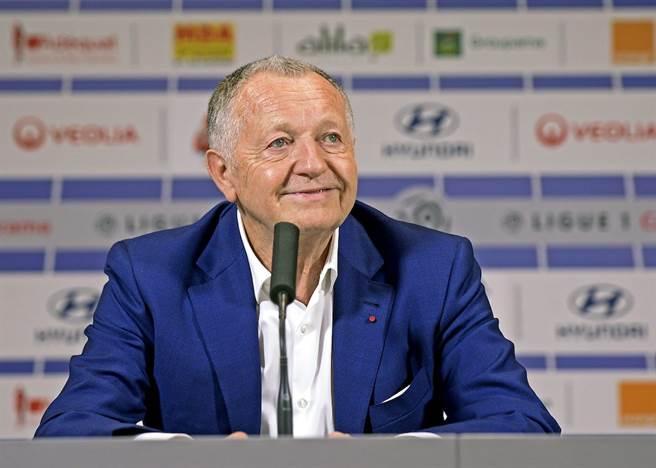 里昂會長Jean-Michel Aulas支持取消2019-2020賽季。(達志影像)