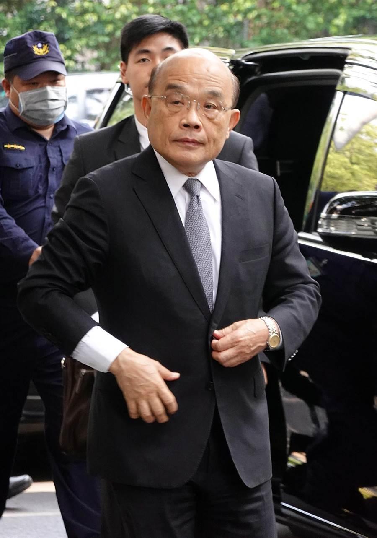 行政院長蘇貞昌27日赴立法院備詢。(姚志平攝)