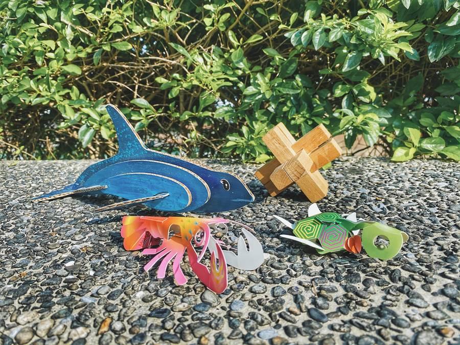 陽明海洋藝術館送居家「教育學習包」讓宅在家也能玩的很創意。(陽明海洋藝術館提供/吳康瑋基隆傳真)