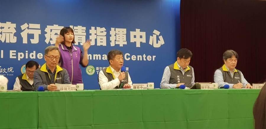 中央流行疫情指揮中心27日召開疫情說明記者會。(報系資料照片)