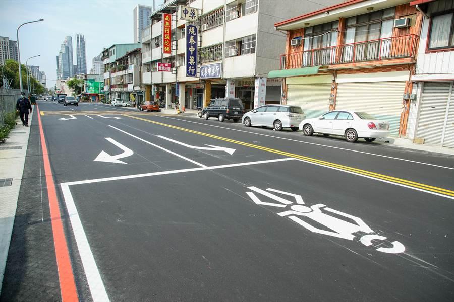 台中市西屯區惠中路拓寬15米完工!(盧金足攝)