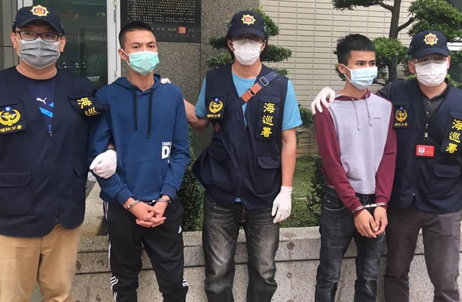 最後2名逃逸越南偷渡客今(27日)落網。(吳家詮翻攝)