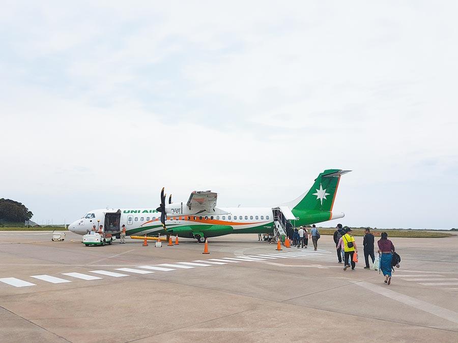 台灣往返馬祖空運目前僅有1家航空公司。(葉書宏攝)