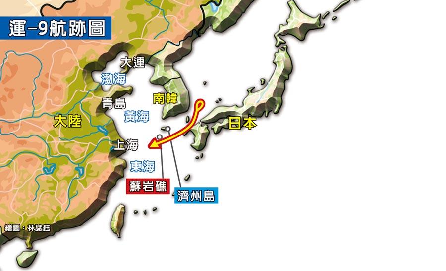 運-9航跡圖