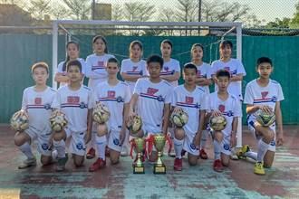中等學校五人制足球賽  竹縣博愛國中奪男亞軍、女季軍