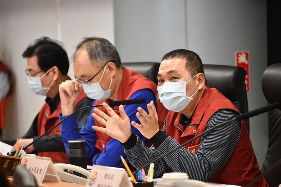 新北市政府今召開新冠疫情應變會議。(新北市提供/許哲瑗新北傳真)