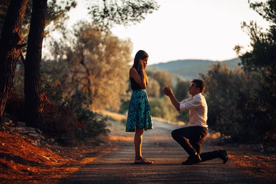 求婚成功(示意圖/Shutterstock)