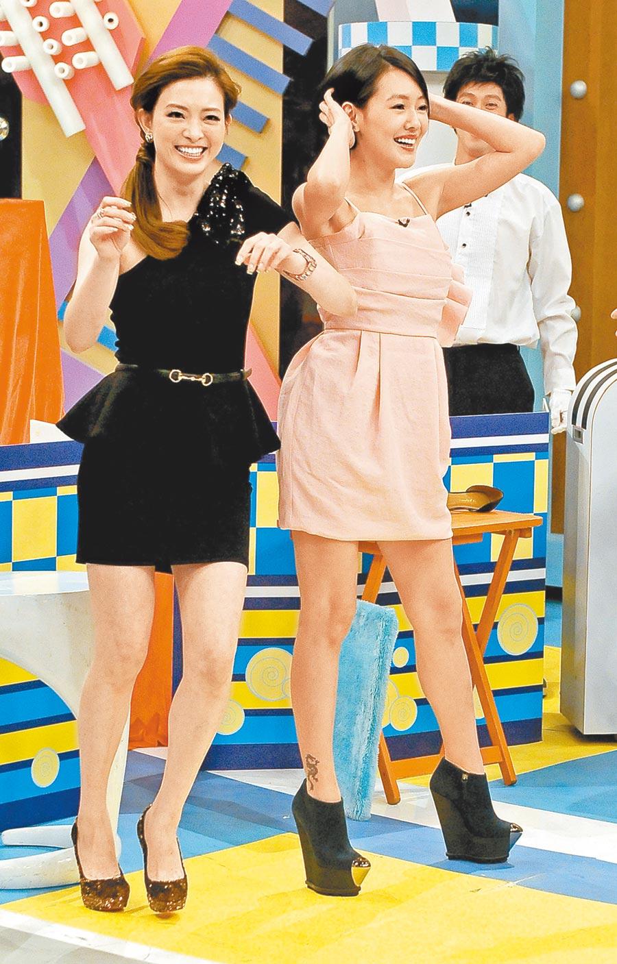 劉真(左)曾和小S在《康熙來了》搞笑比美。(資料照片)