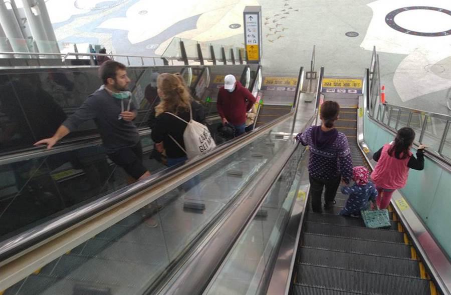 花蓮車站今早未見英國情侶,縣府衛生局長則稱兩人半夜已由英國駐台單位接走。照片中非當事人英國情侶。(許家寧攝)