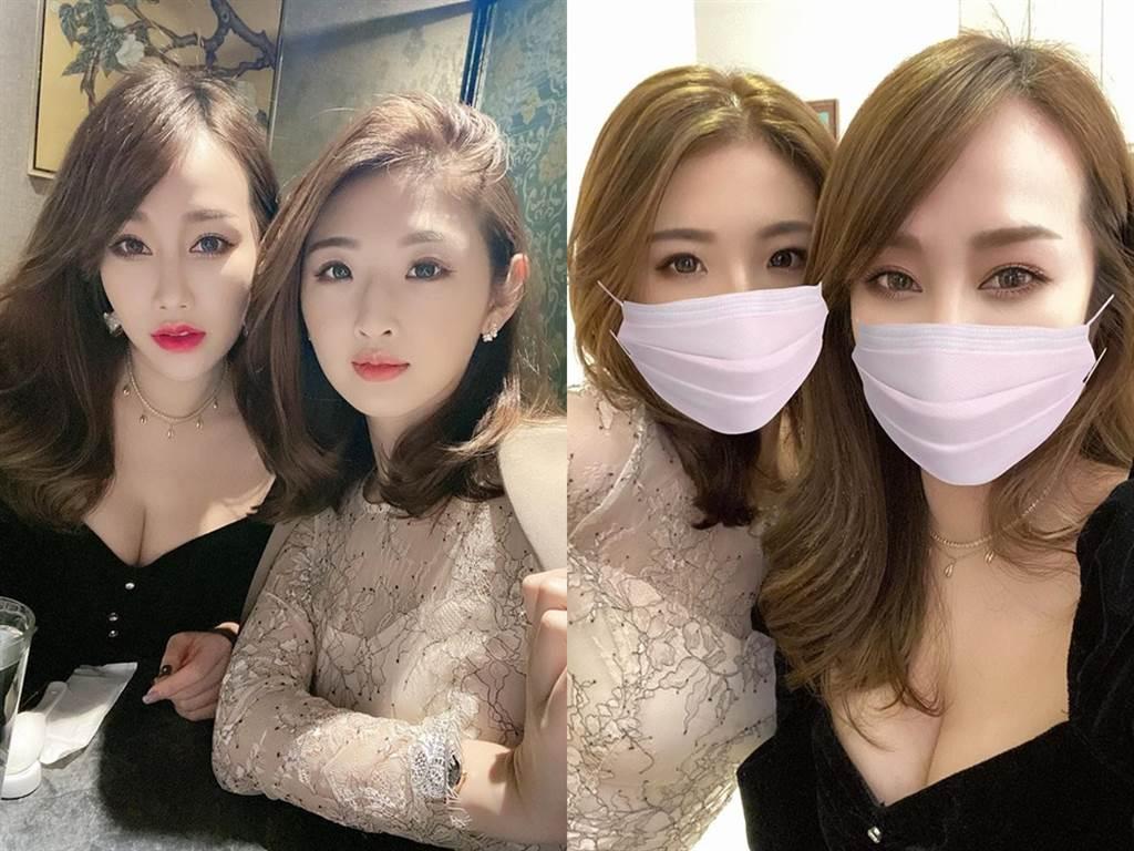 林佩瑤和「華航林依晨」趙筱葳都是知名美女空姐。(圖/FB@林佩瑤 Pei Yao Lin)