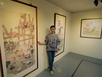 蔡秀樓水墨畫個展新營文化中心登場 素人展現30年畫工