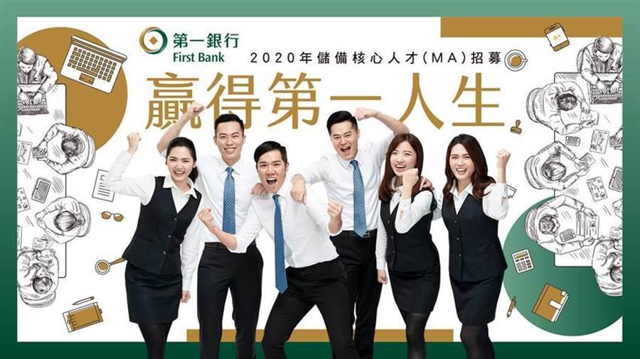 第一銀行MA招募中,進行2年上看百萬年薪。圖/第一銀行提供