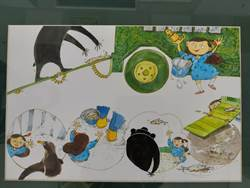 「毛毛蟲女孩來了」 藝術家蕭寶玲繪本展樹林展出