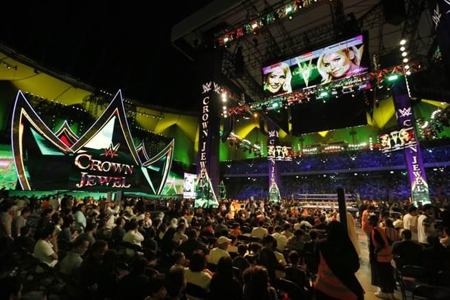 WWE在沙烏地阿拉伯吸引很多觀眾。(美聯社資料照)