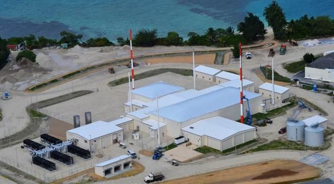 夸加林環礁的太空柵欄。(圖/美國太空軍)