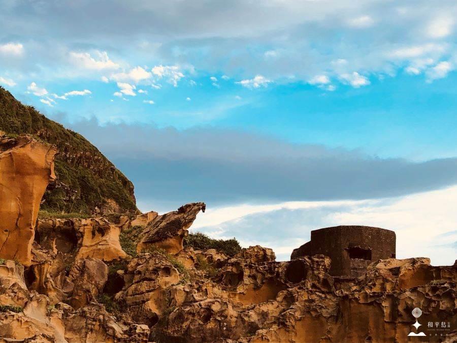 和平島公園 黑鳶岩 EAGLE ROCK。(北觀處提供)