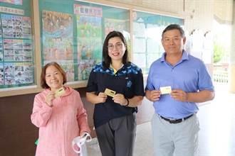 來自慶安宮媽祖的祝福 善化兒童喜收額溫檢測卡