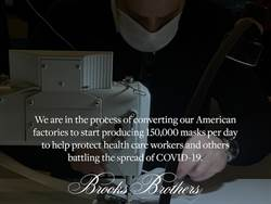 Brooks Brothers工廠轉型 日產15萬口罩抗疫