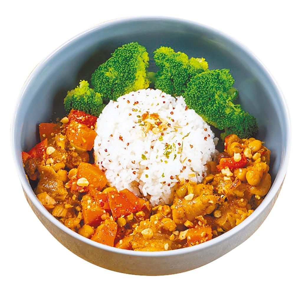 統一時代百貨台北店的smith&hsu北非風雞肉藜麥飯,推薦價320元。(統一時代百貨台北店提供)