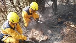 花蓮林火延燒五天終獲控制 3.48公頃林班地一片焦灼