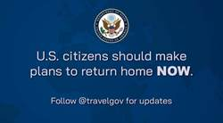 封國前兆?美國務院發推文:美國人快回來!