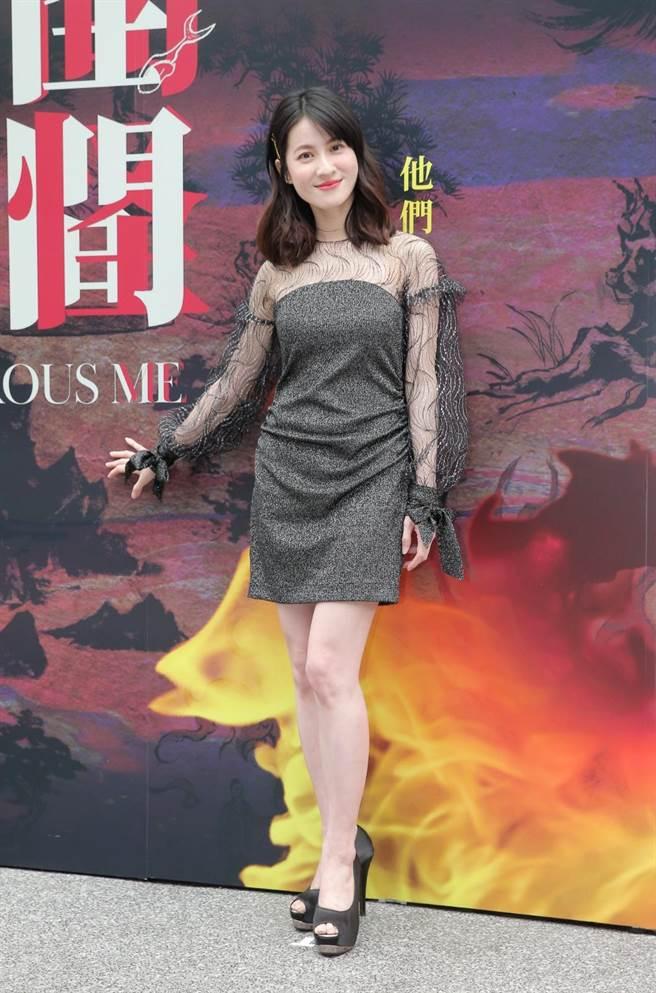 連俞涵3日出席《妖怪人間》媒體首映會。(盧禕祺攝)