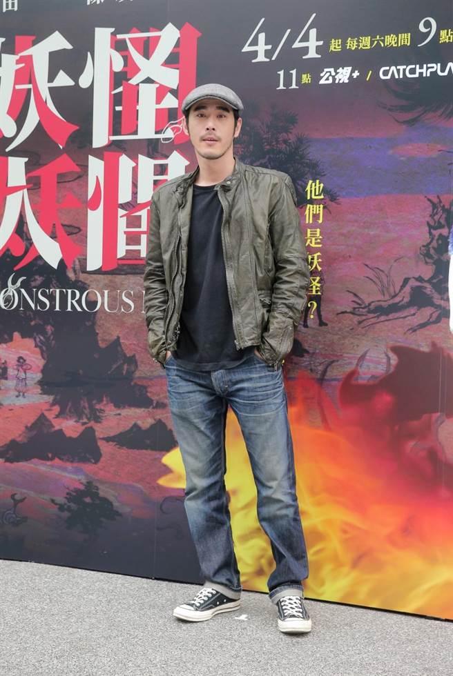 黃騰浩3日出席《妖怪人間》媒體首映會。(盧禕祺攝)