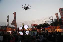 台南首度出動無人機防疫!黃偉哲夜市宣導社交距離