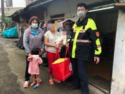 蓬萊所員警助轄內弱勢家庭獲得地方迴響捐助