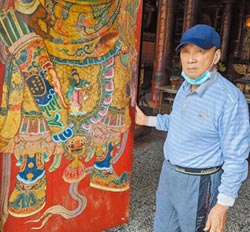 國寶藝師出手 修復六甲保安宮門神
