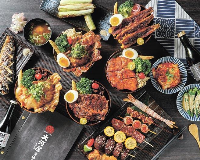 大河屋進駐新竹巨城,並特別推出一系列巨城限定獨賣餐點。圖/大河屋提供