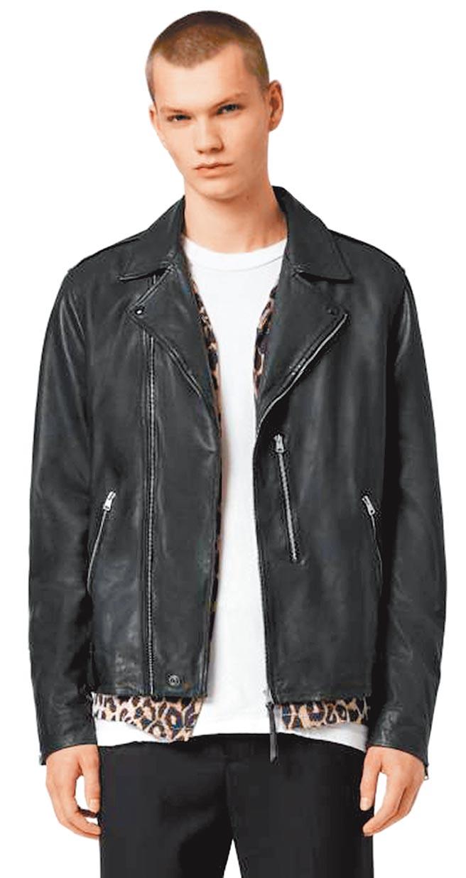 AllSaints Bondi修身羊皮皮衣,1萬9600元。(AllSaints提供)