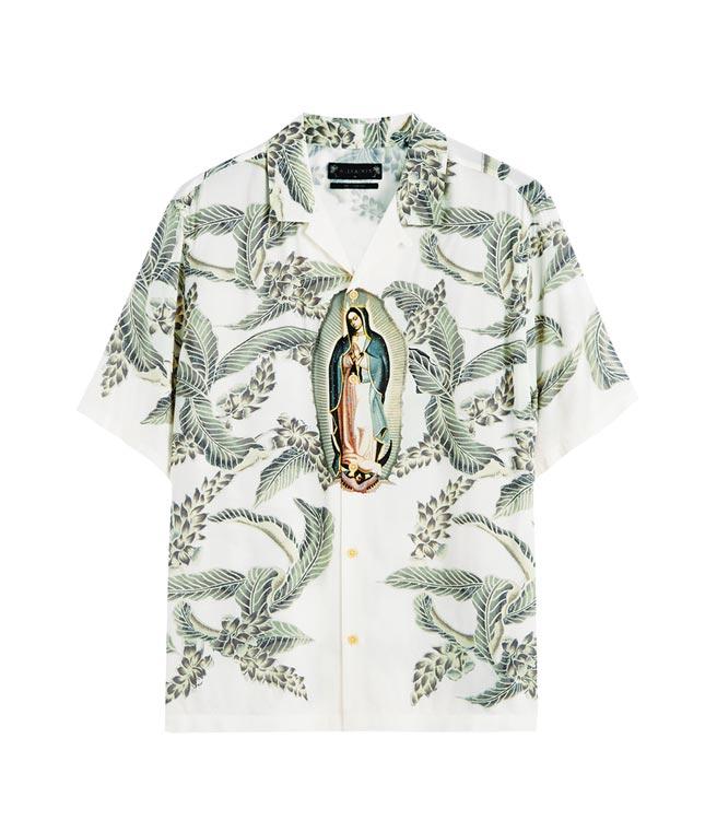 AllSaints Diego聖母圖騰印花襯衫,4800元。(AllSaints提供)