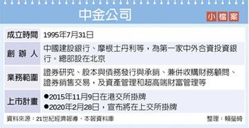 阿里巴巴、騰訊入股 中金公司啟動A股上市輔導
