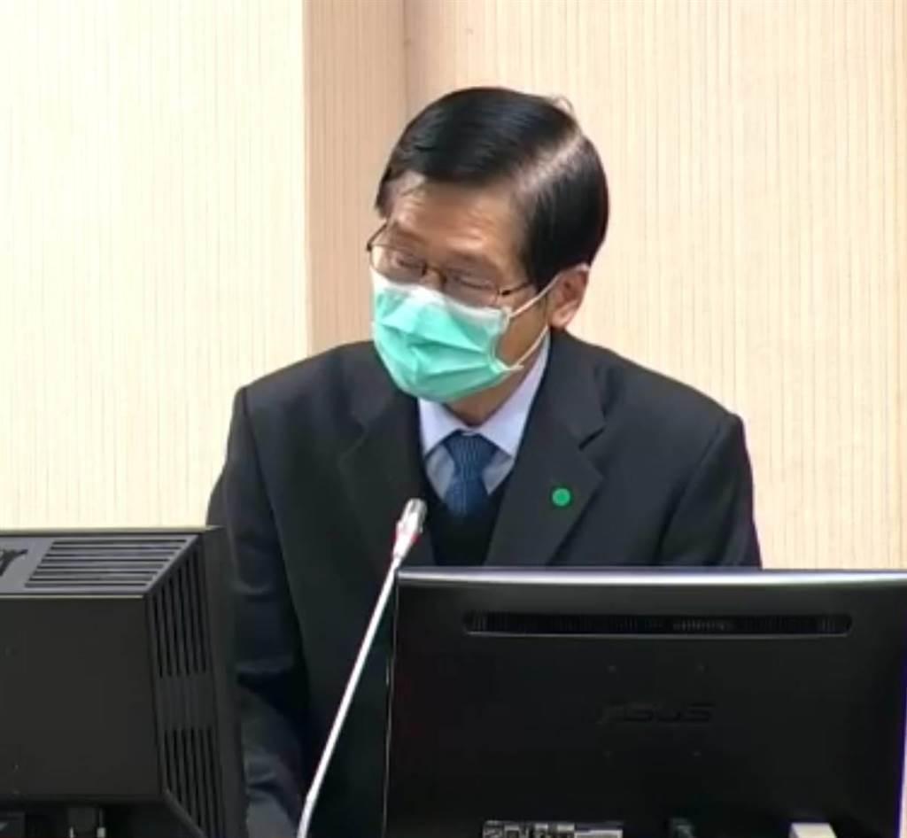 國防部長嚴德今在立法院備詢。呂昭隆翻攝