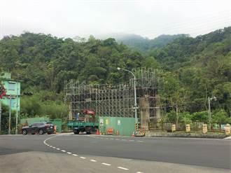 仙山靈洞宮建16米高門樓 拚年底完工成獅潭新地標