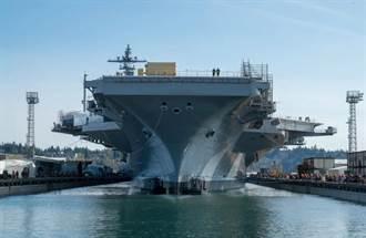 美國航艦卡爾文生號 完成大修離開船塢