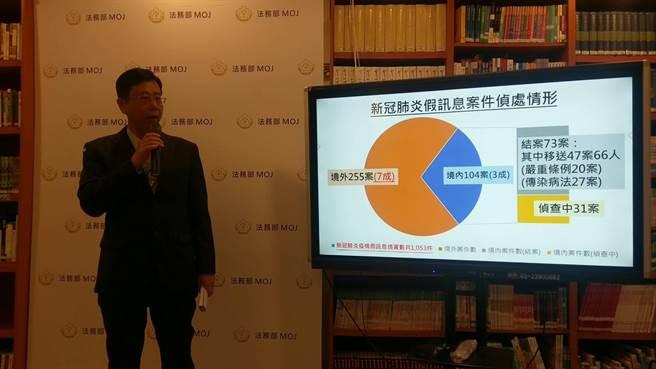 呂文忠說,調查局成立資安站打擊假訊息 已移送47案66人(陳志賢攝)