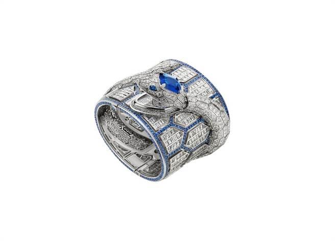 去年拿下日內瓦鐘表大賞的SERPENTI MISTERIOSI ROMANI珠寶神秘表,約5079萬3000元。(BVLGARI提供)