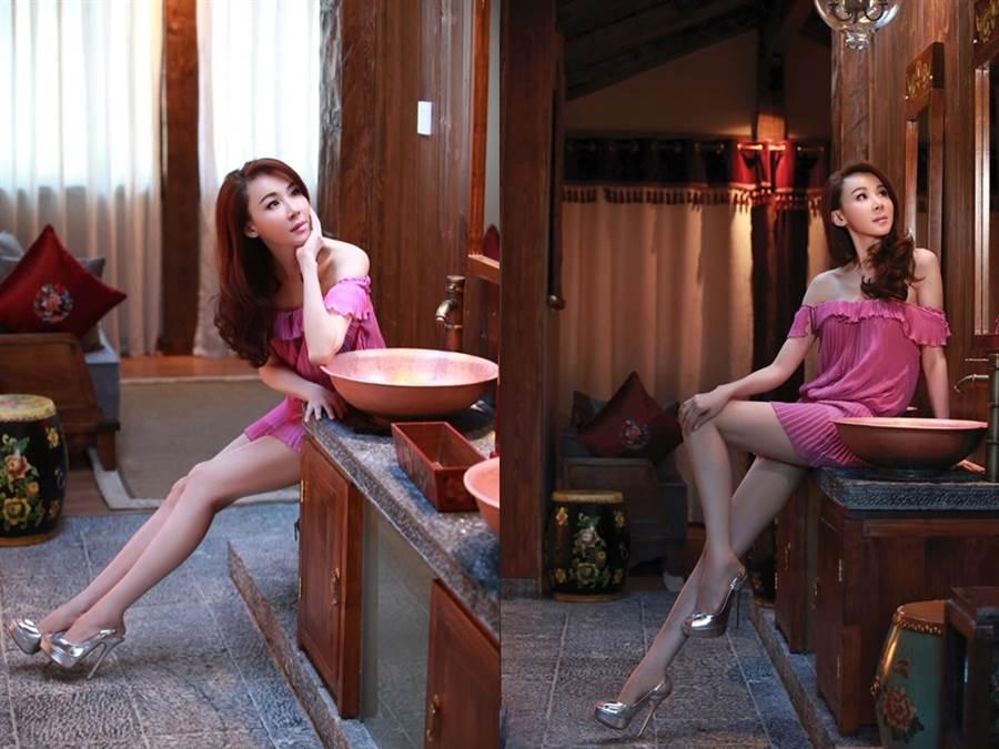 蕭薔51歲保養得宜,逆齡美貌曾紅到國外、引起外媒報導。(圖/FB@蕭薔)