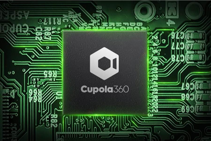 信驊積極發展Cupola360多影像拼接處理晶片,拚當營運第二隻腳。圖為Cupola360晶片合成圖。(信驊提供/記者王逸芯台北傳真)