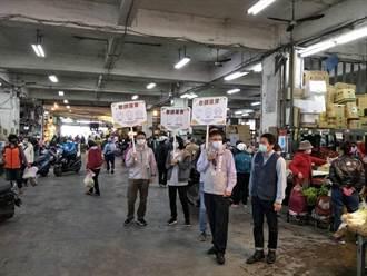 竹市防疫宣導隊出動 舉牌、大聲公要你戴口罩