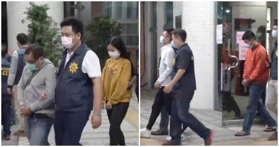7名嫌犯移送過程。(圖/翻攝畫面,下同)