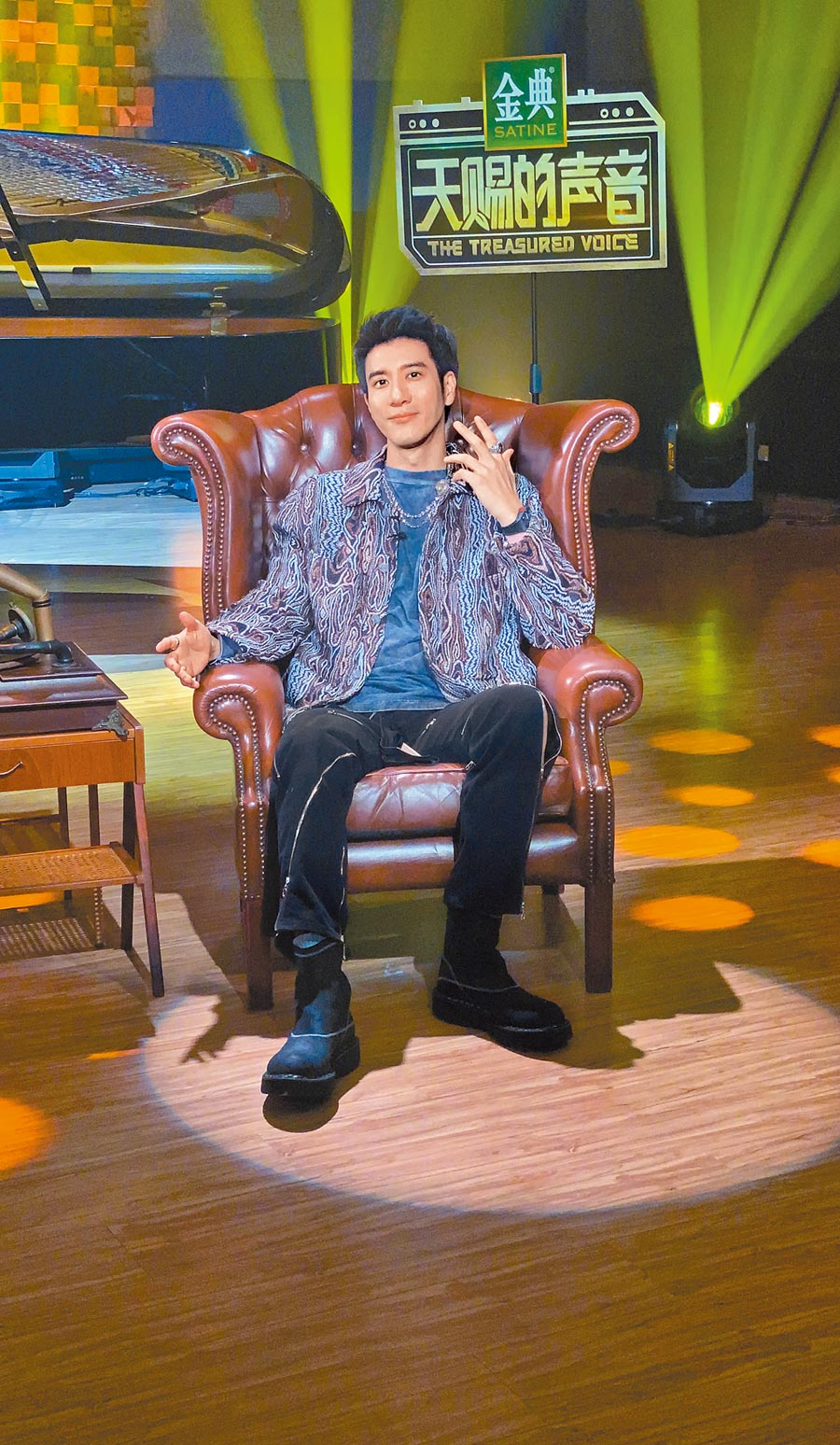 王力宏日前在台北,透過雲錄製大陸節目開唱。(宏聲音樂提供)