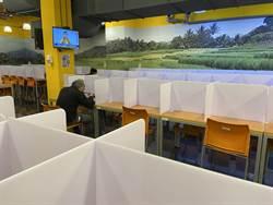 防疫多層保障 中市府員工餐廳加隔板、座位減半