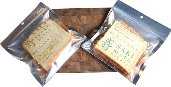 單買〈SAKImoto Bakery〉的單片高級生吐司送人或自食,〈極美自然吐司〉單片80元,〈極生奶油牛奶吐司〉90元。圖/姚舜