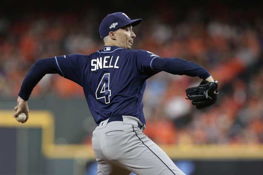 光芒先發投手史奈爾擔綱MLB電玩競賽的開幕戰。(美聯社資料照)
