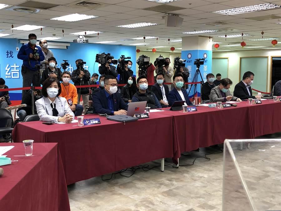 國民黨今天舉行數位行銷科技長決選。(趙婉淳攝)