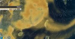 沙塵暴上岸「濃度飆起來」!今減弱 彭啟明:仍要留意附近汙染