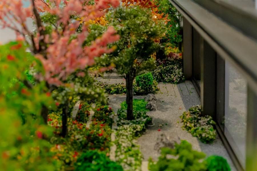 ▲日式庭園風格的秘密後花園。圖/中時電子報攝